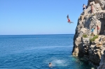 Cliff Jumping @ Kamari Beach, Santorini